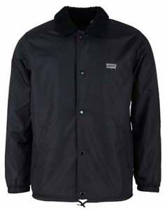 Levi's Men's Sherpa Fleece Lined Water Repellent Snap Up Coach Jacket 35474-0003