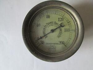 Fire fighting pressure gauge. American Fire engine company gauge.Compound gauge.