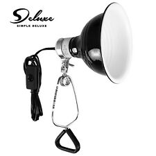Simple Deluxe Reptile Dome Light Clamp Lamp Fixture w/ 5.5'' Aluminum Reflector