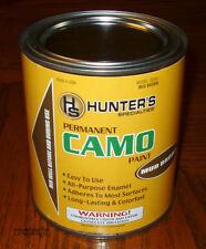 HUNTER'S SPECIALTIES HS CAMO BRUSH-ON PAINT ENAMEL MUD BROWN DUCK BOAT QUART NEW