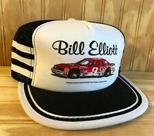 Vintage 3 Stripe NASCAR Racing Coor's Beer Bill Elliott Trucker Hat Baseball Cap