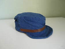 NEW MONSOON ACCESSORIZE LADIES GIRLS BLUE COTTON MILITARY CAP SUMMER SUN HAT