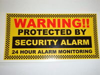 2 X Protected Window Stickers Security Alarm 24h Monitored