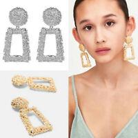 Fashion Punk Dangle Earrings Women Statement Jewelry Geometric Big Drop Earrings