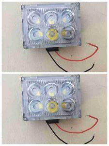 2x18W LED OFFROAD WORK LIGHT HEAD REVERSE SPOT LIGHTS 4 TRUCK 4WD UTE BOAT CAR