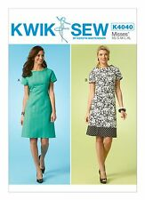 Kwik Sew SEWING PATTERN K4040 Misses Short Sleeved Dresses XS-XL