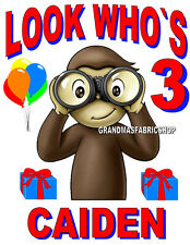 New Curious George Personalized Birthday Shirt # 2 Add Name & Age