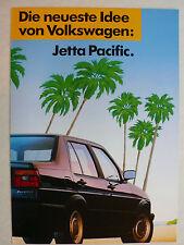 Prospekt Volkswagen VW Jetta 2 Sondermodell Pacific, ca.1987, 4 Seiten