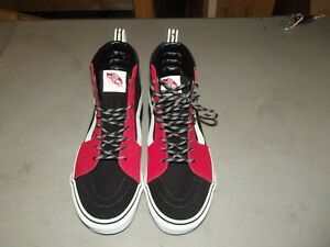 Vans Sk8 Hi Mens Size 9 Red and Black