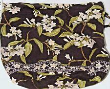 VERA BRADLEY Ditty Bag Jasmine Plastic Lined Drawstring Travel Bag