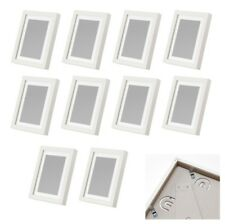 10 Stück Limhall Ikea 10x15 / 13x18 Bilder Rahmen weiß Foto Passepartout Set NEU