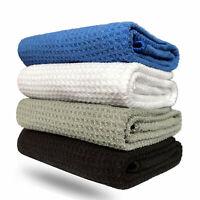 Tri-fold Golf Towel Premium Microfiber Fabric Waffle 16 x 24 Carabiner Hook New