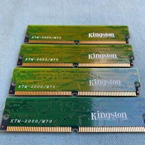 Kingston Technology KTM-2000/M70 KTC-586M/8 Computer Memory Lot 4 72 Pin SIMM DR