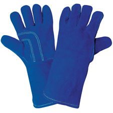 Premium Split Cowhide Welders Gloves Wing Thumb Hemmed Lined Global Glove