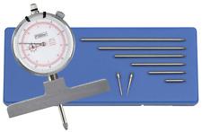 Fowler 52 125 008 0 X Depth 22 Dial Depth Gage 0 22558mm Range 001001mm