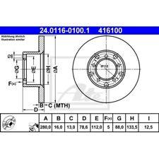 SATZ 2x ATE Bremsscheibe MERCEDES-BENZ T1 Bus (601)  MERCEDES-BENZ T1 Bus (602)