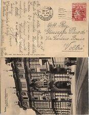 REGNO-10c+5c CROCE ROSSA cartolina Torino->Voltri 15.4.1918