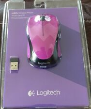 Purple Logitech M317c Wireless Optical Mouse