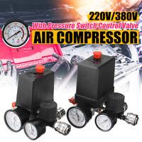 "380V Air Compressor Pressure Switch Control Valve Manifold Regulator   ""+  ✔"