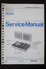 Philips gramophones 22gf623 ORIGINAL SERVICE MANUAL/MANUEL/schéma! o57