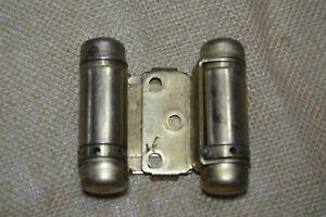 Vintage BOMMER Gold Tone Hinge Spring Loaded door hardware Made in USA