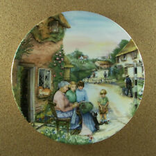 Old Country Crafts The Lacemaker Plate #5 Susan Neale Royal Doulton 1991 Htf Coa