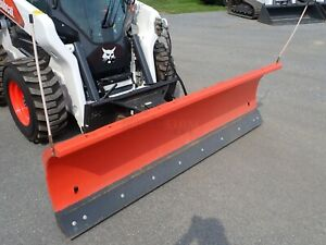 """2019 BOBCAT 96"""" SNOW BLADE FOR SKID STEER LOADERS, HYDRAULIC ANGLE, QUICK ATTACH"""