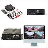 4CH Car Autos RV Ambulance Mobile HD DVR Realtime Video/Audio Recorder SW-0001A