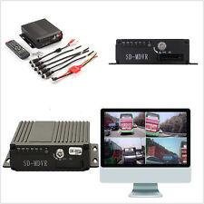 4CH Car HD DVR móvil autos RV ambulancia Grabador de audio/video en tiempo real SW-0001A