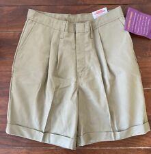Dickies Khaki Shorts 18 Slim Girls School Uniform
