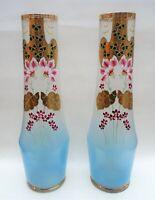 paire de grand vase émaillée art nouveau - 40 cm