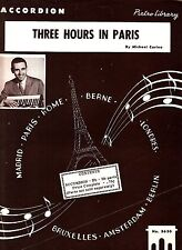 Three Hours in Paris Michael Corino 1959 Accordion Sheet Music