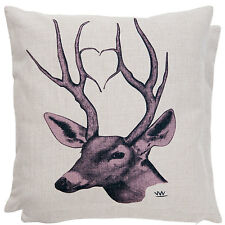 Clayre & Eef Pillow Case Stag CUSHION 45x45cm New