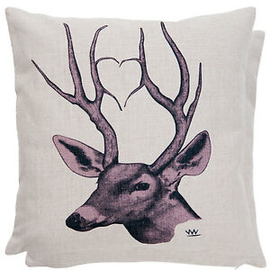 Clayre & Eef Pillow Case Stag Cushion 17 11/16x17 11/16in New