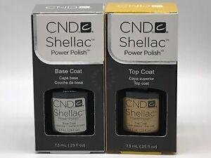 CND Shellac Base & Top Coat Gel Nail Polish Soak-Off UV - Free Tracked Post - UK