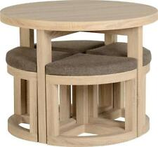 Pine Fixed Round Table & Chair Sets
