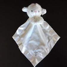 Baby Aspen White Prayer Lamb Security Blanket Rattle Lovey Cross Blessing baptis
