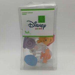 Disney Winnie the Pooh Shower Curtain Hook Set Bees Butterfly Hunny Pot Snail