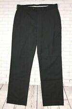 PERRY ELLIS PORTFOLIO Mens Dress Pants 34 X 32 Charcoal Gray Flat Front Slacks