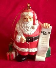 Santa w List of Good Children Plastic Christmas Ornament by Flambro Imports '93