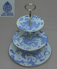 "Royal Worcester ""Blue Dragon"" (Warmstry, Fluted) THREE TIER CAKE STAND"