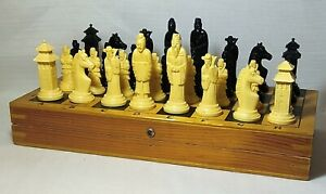 RARE Vintage Soviet Chess SAMURAI USSR. Full set.