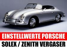 Porsche 356 / 911 / 912 Vergaser Solex PBI PBIC PII-4 / Zenith NDIX - Bedüsung