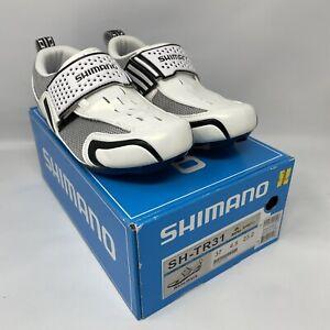 Shimano SH-TR31 Unisex Triathlon Tri Shoes EU 37 White Black MSRP $130