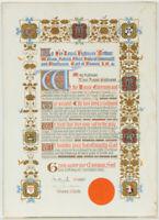 20th Century Gouache - Manuscript