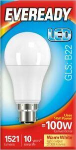 3 x 14w = 100w LED GLS Bayonet BC B22 Light Bulb in Warm White 100 Watt Lamp