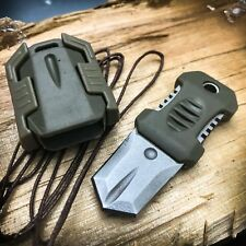 EDC Mini Pocket Shiv Neck Fixed Blade Knife Dagger Tactical Survival w/ Sheath
