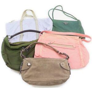 Prada Nylon Suede Leather Hand Bag Shoulder Bag 5 pieces set 519325