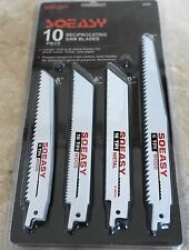 "Reciprocating Saw Blades Wood & Sheet Metal  10 Pce 6"" and 8"""