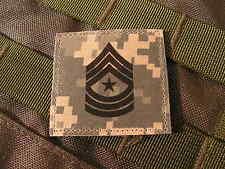 Galon US - SERGEANT MAJOR - grade scratch ACU DIGITAL rank insignia SNAKE PATCH